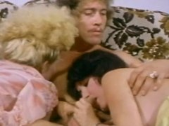 Petite Blonde tramp rides John Holmes in bed