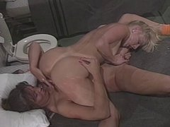 Horny sluts lick each other's pussies in 69 position and fucks with dildo