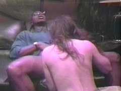 Brunette is fucked from behind on couch by fresh prince