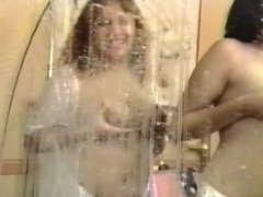 Three busty bitches have lesbian threesome in bedroom