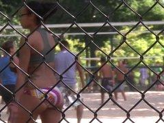 Incredible Latina  Ass Playing Volleyball