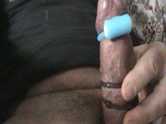 cumshot with vibrator