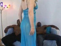 Nina Hartley Enjoys 2 Black Cocks