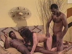 Classic Babe Getting Fucked By Two Black Cocks
