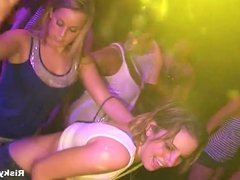 Hot babes dancing wild at the party