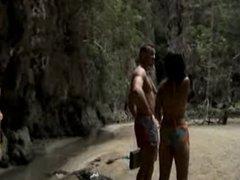 2 Thai Teens banged on the beach