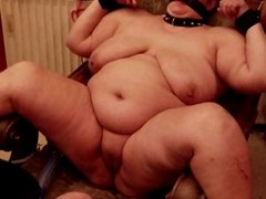 My slave Bekker bound with leggs wide open