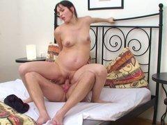Hot pregnant girl Bianca Fucked Hard