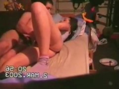 amateur young couple plays and has fun