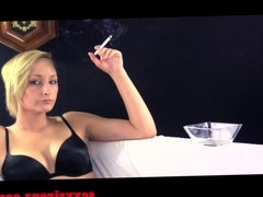 Smoking Fetish - Cirsten Black Lingerie Cigarette