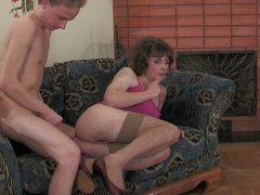 Sissy serves man