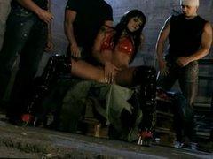 Outdoor gangbang with Simony Diamond