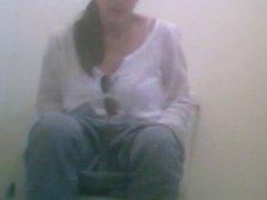 MILF hidden toilet cam