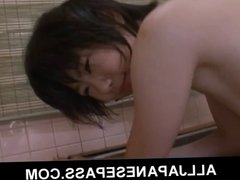 Japanese teen Aoba Itou caught with a bottle in her pussy