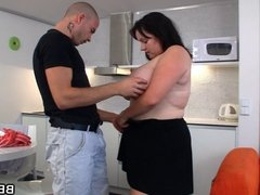 Hot fatty fucked from behind