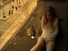 balcony girl masturbate
