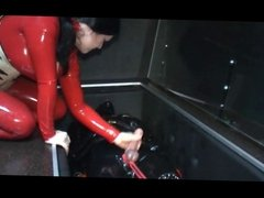 German Mistress Ties Slaves Balls and Drain Him (Zdonk)