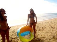 Cara & Sandra at the Beach
