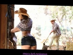 PASSION-HD Cowboy & Cowgirl have ranch sex