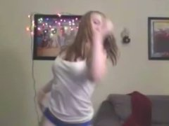 Dance! Cute dirty blonde dances