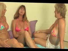 3 old grannies suck young man