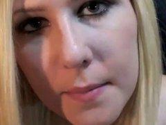 long tongue blonde on webcam