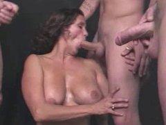Cocksucking Mom Covered In Cum