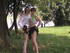 Public lesbian sex