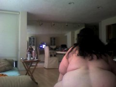 BBW fully nude being herself