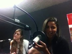 Busty Latina Singing at Radio Station