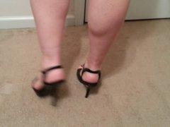 whore Lateshay black mini and heels
