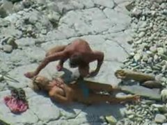 Beach bj and handjob voyeur video
