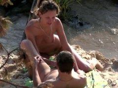 Beach spy cam passionate fuck video