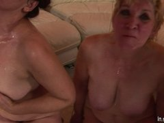 Mature sluts lick ass and suck cock on a party