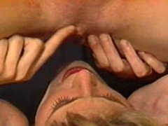 Skinny bisexual twins have sex at work