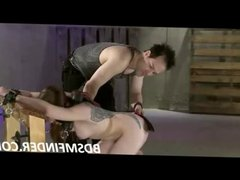 Submissive Whipped Paddled And Toyed
