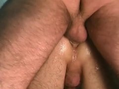 Sexy young gay dudes suck cock and fuck ass in the shower