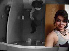 Denise Caught on Toilet Hidden Cam