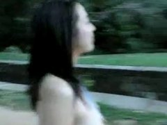 Asian girl roadside nudity