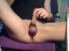 Tight shaved asshole get fingered, plugged and spanked