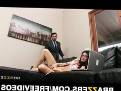 Lonley brunette wife begs her husband to help her squirt