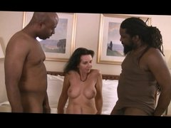 Naked Jen Luvs Phat Black Cocks