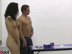 Strip Beer Pong vs Franco,Holly,Dick & Zayda part 2