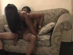 Sexy Black Teen Girl Homemade Creampie