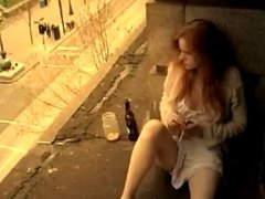 Redhead Girl Masturbation In Window,By Blondelover.