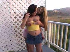beautiful lesbian teens love strapon