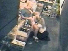 AMATEUR LESBIANS caught in the act by a security HIDDEN CAM