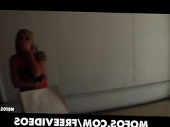Cute amateur blonde is talked into trying anal sex on tape