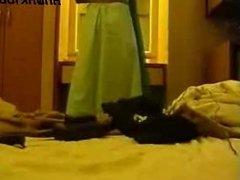 Slim Babe in Green Saari, must watch
