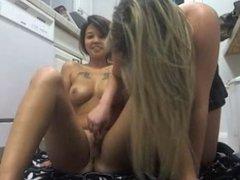 Two lesbians on webcam